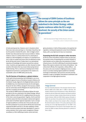 Page 11 of Helga Schmid, Brussels The EU's response to CBRN risks and threats Ready to react