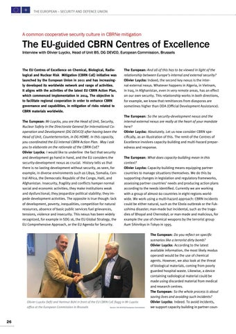 Page 26 of Interview with Olivier Luyckx, Brussels The EU-guided CBRN Centres of Excellence Make our partners ready to react