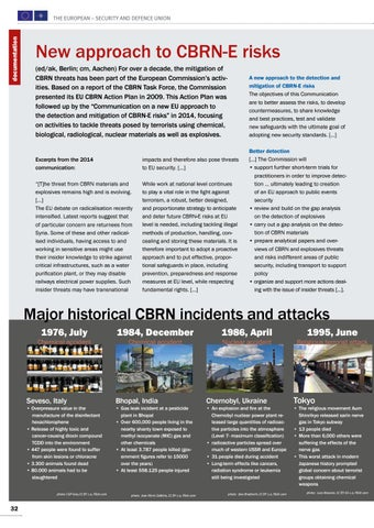 Page 32 of Documentation New approach to CBRN-E risks