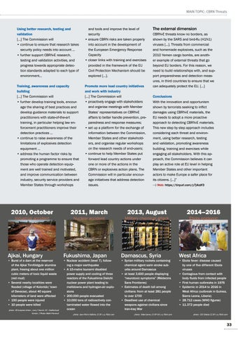 Page 33 of Documentation New approach to CBRN-E risks