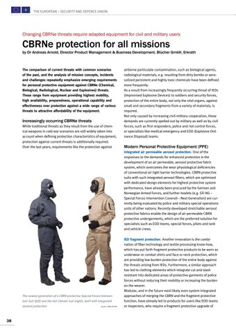 Page 38 of Andreas Arnold, Erkrath CBRNe protection for all missions Efforts leading to real benefits for the users