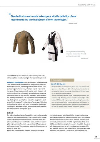 Page 39 of Andreas Arnold, Erkrath CBRNe protection for all missions Efforts leading to real benefits for the users