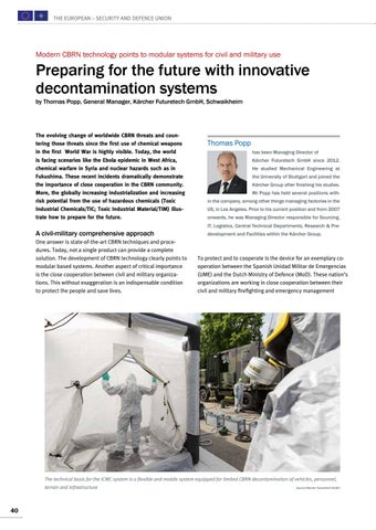 Page 40 of Thomas Popp, Schwaikheim Preparing for the future with innovative decontamination systems A comprehensive approach is the solution