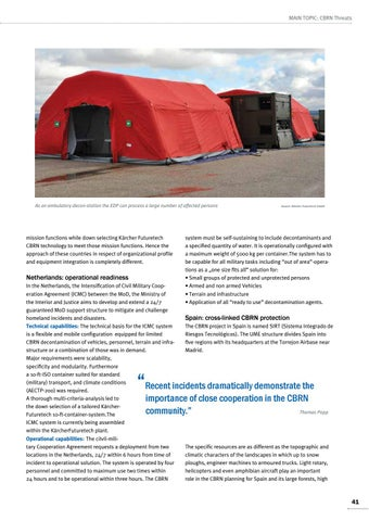 Page 41 of Thomas Popp, Schwaikheim Preparing for the future with innovative decontamination systems A comprehensive approach is the solution