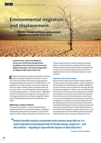 Page 34 of Dina Ionesco and Mariam Traore Chazalnoel, Geneva/New York Environmental migration and displacement A reality of our times