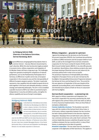 Page 50 of Dr Wolfgang Hellmich MdB, Berlin Our future is Europe New impetus for European defence