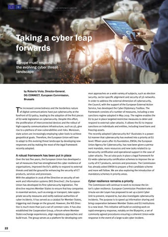 Page 22 of Roberto Viola, Brussels Taking a cyber leap forward A European response to cyber threats