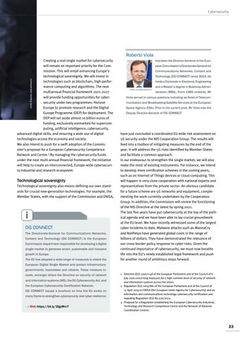 Page 23 of Roberto Viola, Brussels Taking a cyber leap forward A European response to cyber threats