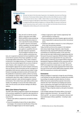Page 35 of Wolfgang Röhrig, Brussels Cyber defence in the European Union is part of its defence capabilities Cyber strongly influences capability development