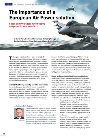 Page 38 of Dirk Zickora, Munich The importance of a European Air Power solution The role of space and cyberspace
