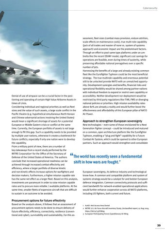 Page 39 of Dirk Zickora, Munich The importance of a European Air Power solution The role of space and cyberspace