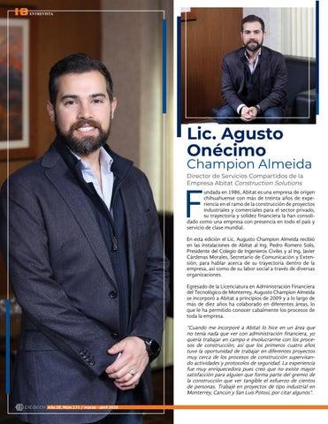 Page 18 of Entrevista con el Lic. Agusto Onécimo Champion Almeida