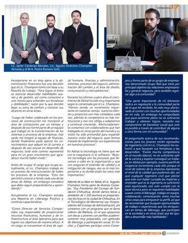 Page 19 of Entrevista con el Lic. Agusto Onécimo Champion Almeida