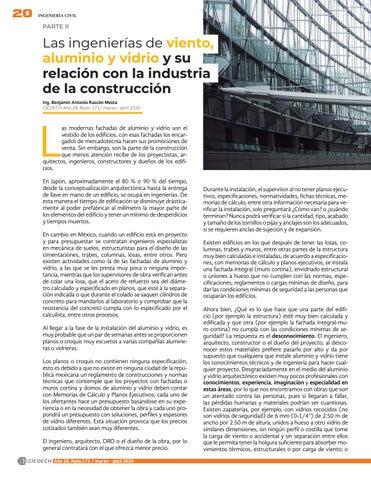 Page 22 of Las ingenierías de viento, aluminio y vidrio y su relación con la industria de la construcción (Parte ll