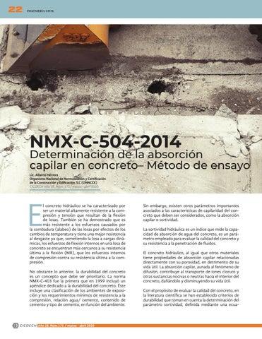 Page 24 of NMX-C-504-2014 Determinación de la absorción capilar en concreto – Método de ensayo
