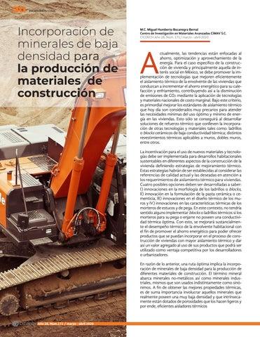 Page 32 of Incorporación de minerales de baja densidad para la producción de materiales de construcción