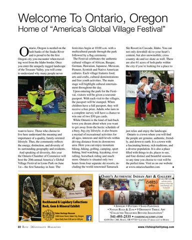 "Page 22 of Home of ""America's Global Village Festival"