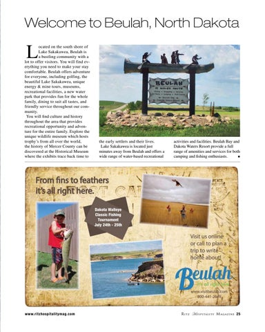 Page 25 of Welcome to Beulah, North Dakota
