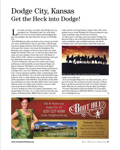Page 27 of Dodge City, Kansas – Get the Heck into Dodge