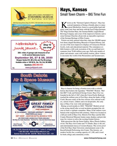 Page 28 of Hays, Kansas Small Town Charm – BIG Time Fun