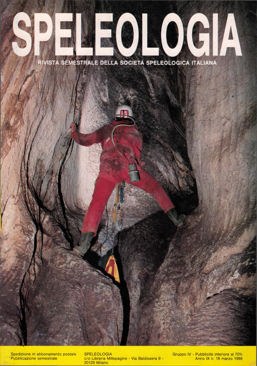 Speleologia N 18 Marzo 1988 By Societa Speleologica Italiana Issuu