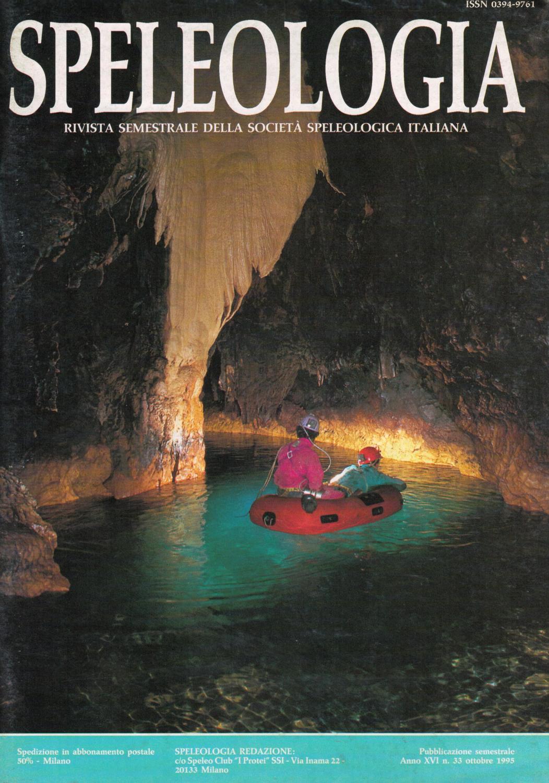 Speleologia N 33 Ottobre 1995 By Societa Speleologica Italiana Issuu