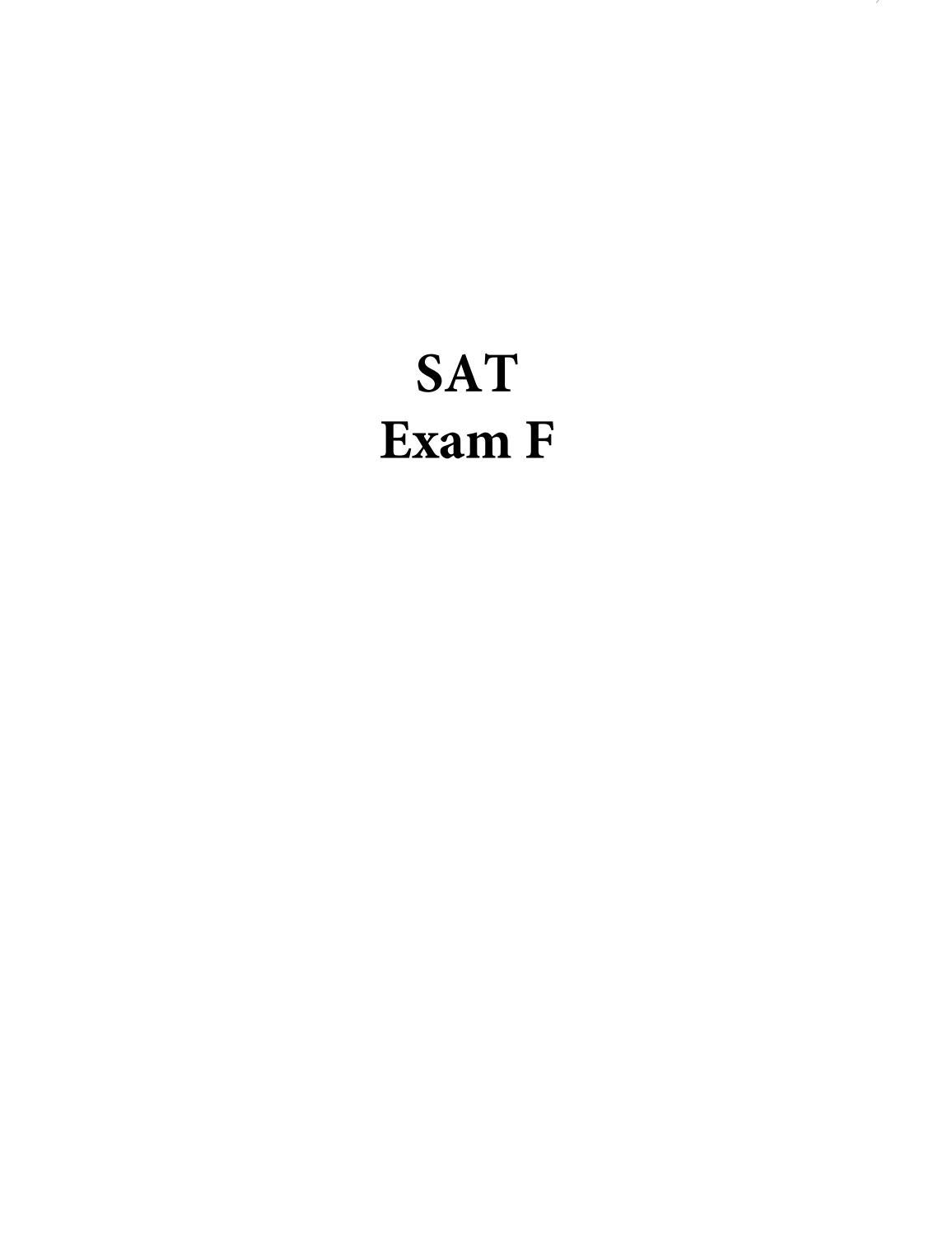 SAT Exam F By On Track Learning - Issuu