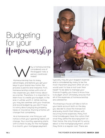 Page 14 of Budgeting for your homeownership