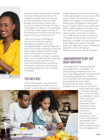 Page 15 of Budgeting for your homeownership