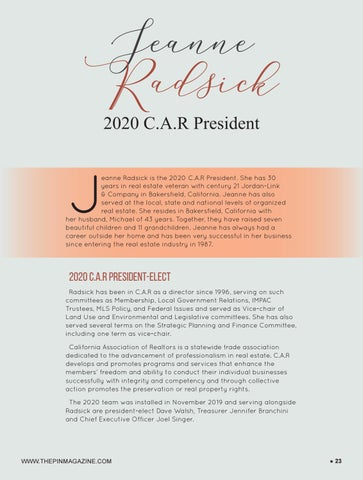 Page 23 of Jeanne Radsick, 2020 C.A.R. President