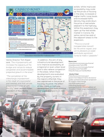 Page 67 of The impact of completion of $73 million interchange improvement project on