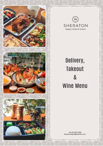 Page 1 of Delivery, Takeout & Wine Menu