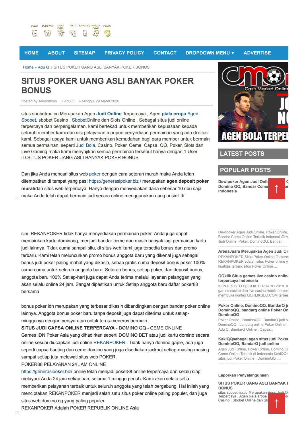 Situs Poker Uang Asli Banyak Bonus By Seko Dilemo Issuu