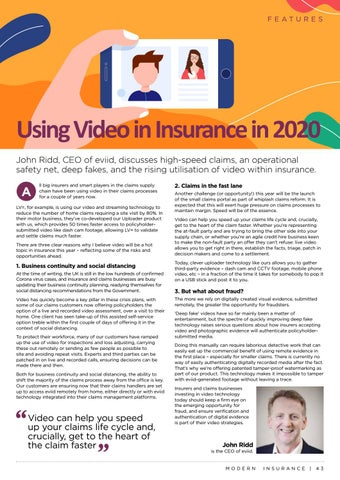 Page 43 of Using Video in Insurance in 2020