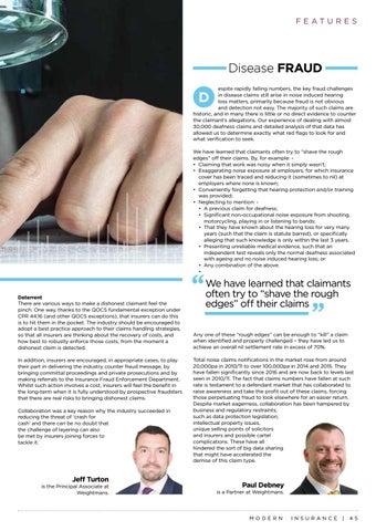 Page 45 of Fraud in the Motor & Disease Sectors