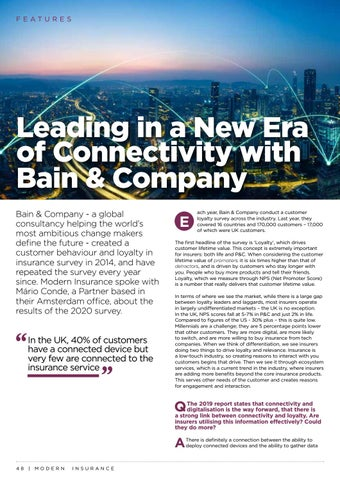 Page 48 of Leading in a New Era of Connectivity with Bain & Company