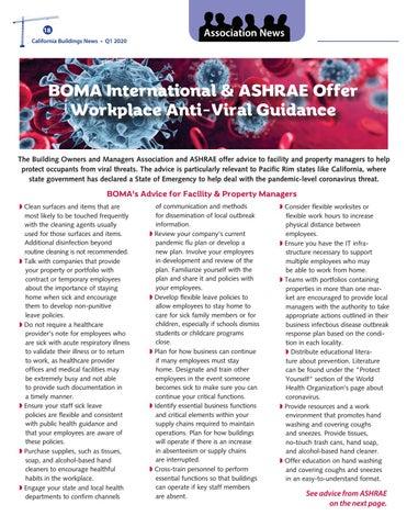 Page 18 of BOMA International & ASHRAE Offer Workplace Anti-Viral Guidance