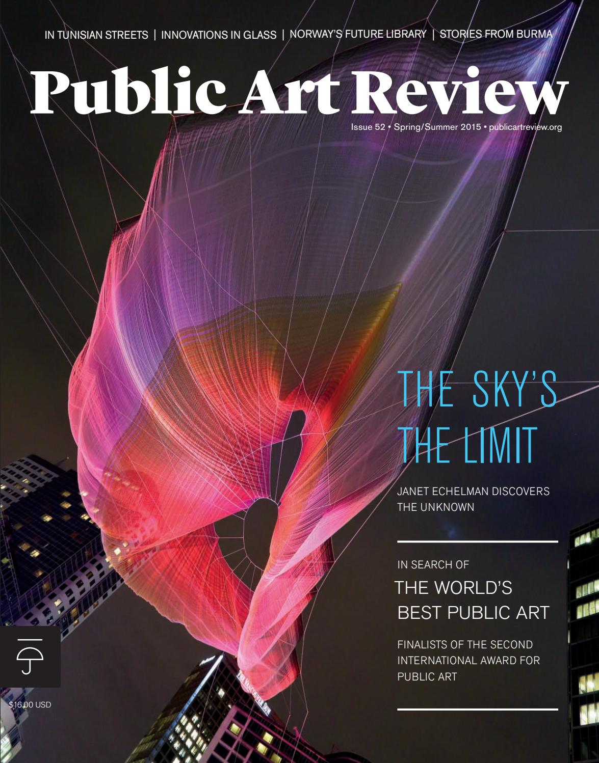 Public Art Review Issue 52 2015 Spring Summer By Forecastpublicart Issuu