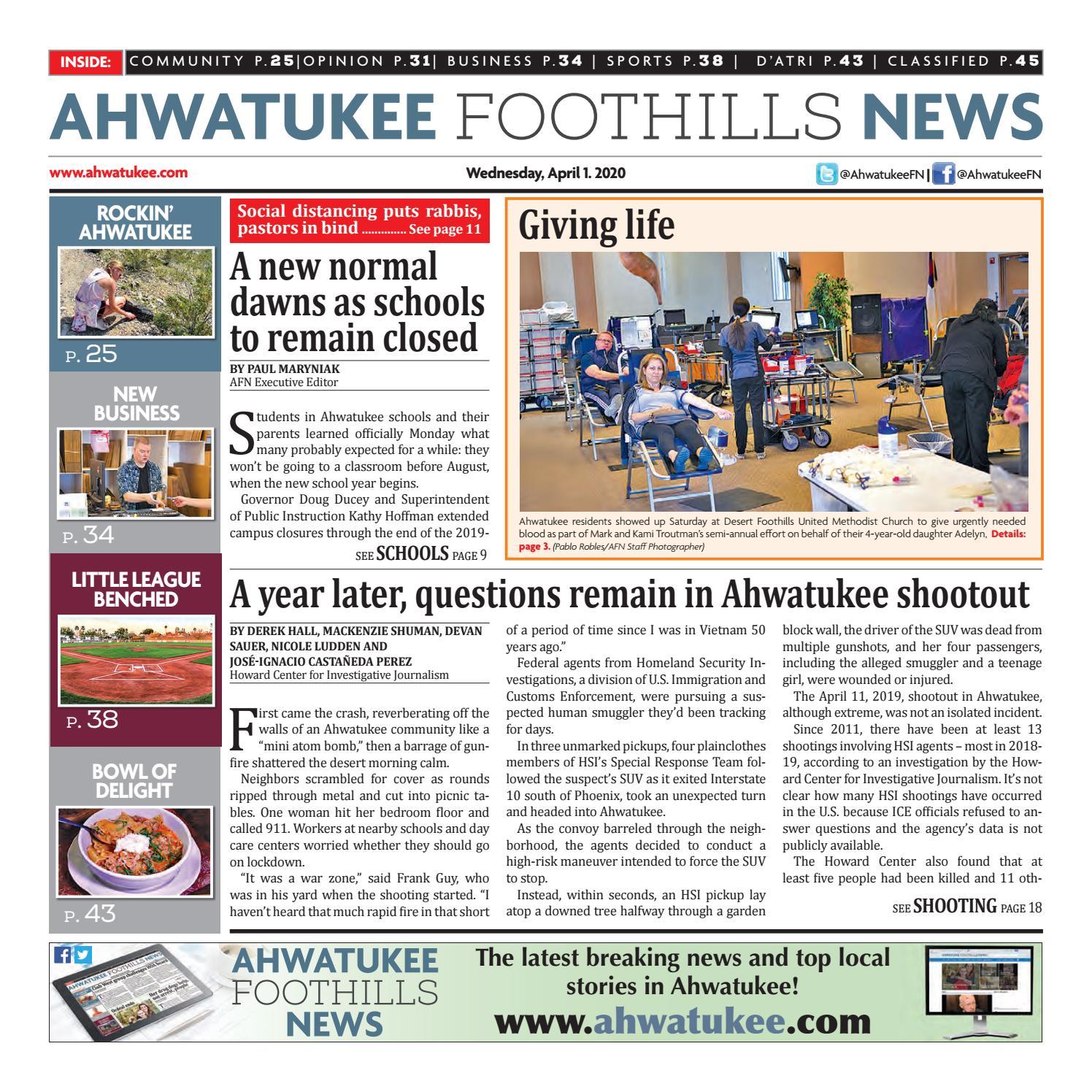 Ahwatukee Foothills News April 1