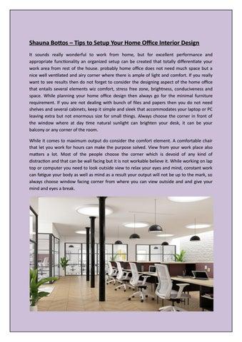 Shauna Bottos Tips To Setup Your Home Office Interior Design By Shauna Bottos Issuu