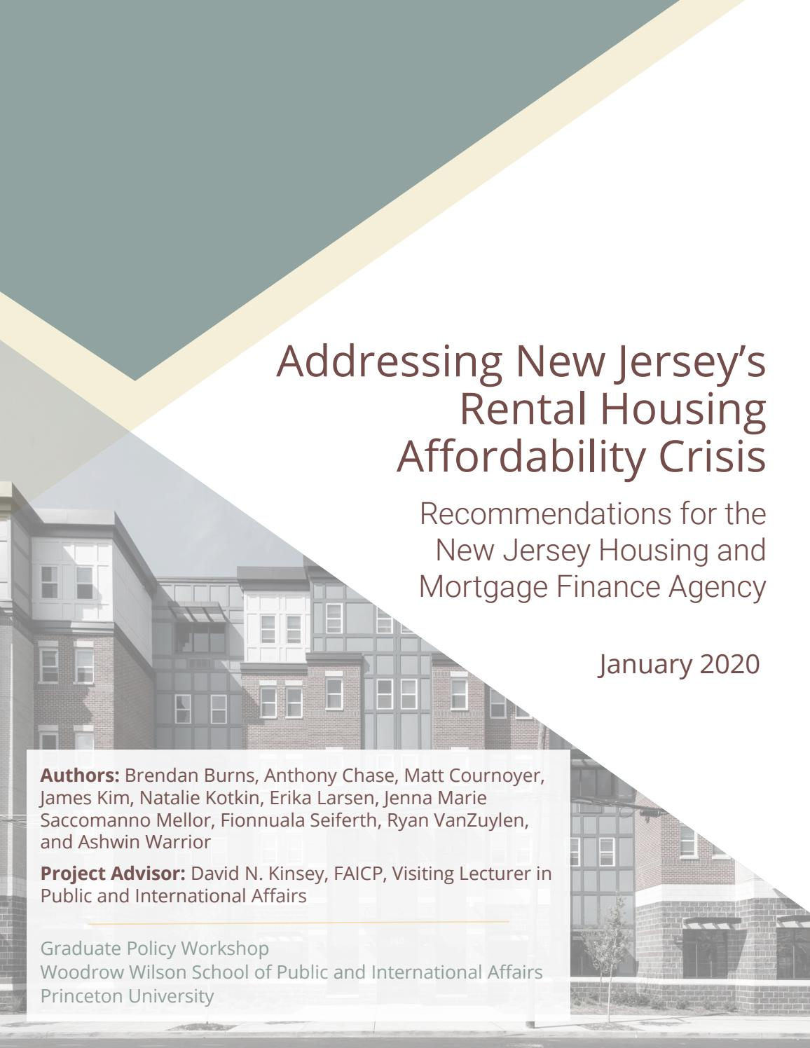 Addressing New Jersey S Rental Housing Affordability Crisis By Princeton School Of Public And International Affairs Issuu