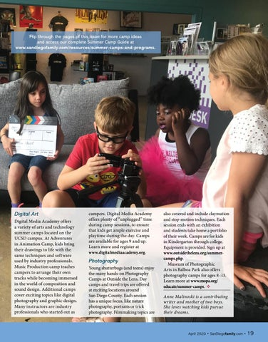 Page 19 of ARTS+ TECH: Media camps offer creative skills and unique experiences