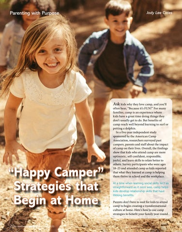 "Page 20 of ""Happy Camper"" Strategies that Begin at Home"