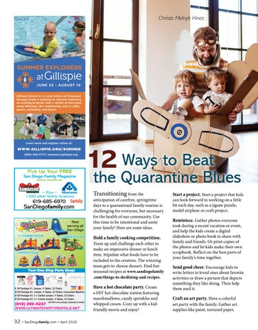 Page 32 of Ways to Beat the Quarantine Blues 12
