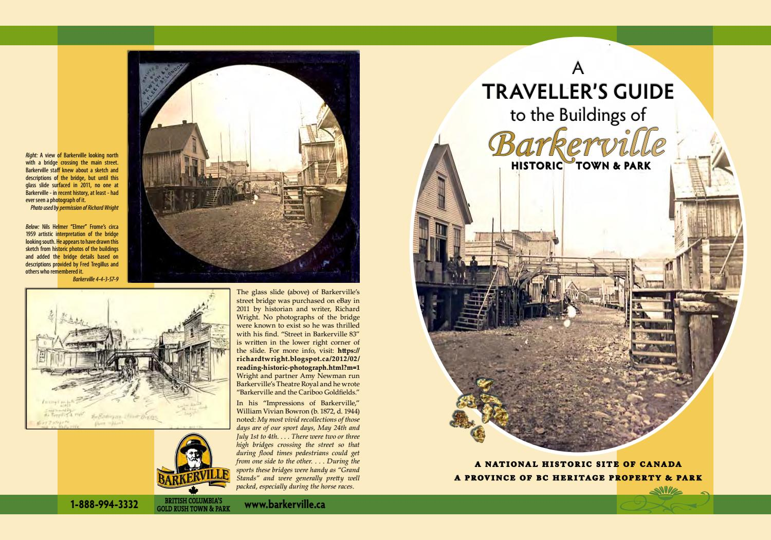 A Traveller S Guide To The Buildings Of Barkerville By Barkervillebc Issuu