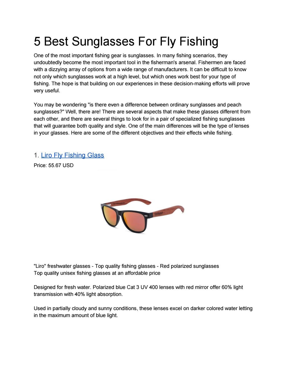5 Best Sunglasses For Fly Fishing By Barry Allen Issuu