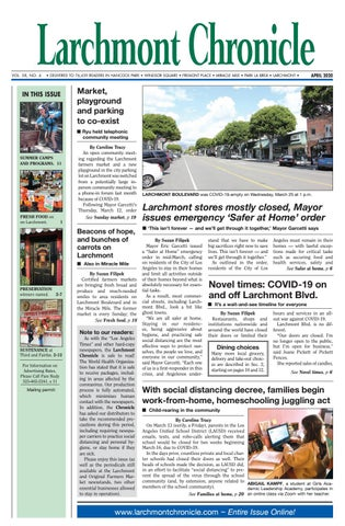 Lc 04 2020 By Larchmont Chronicle Issuu