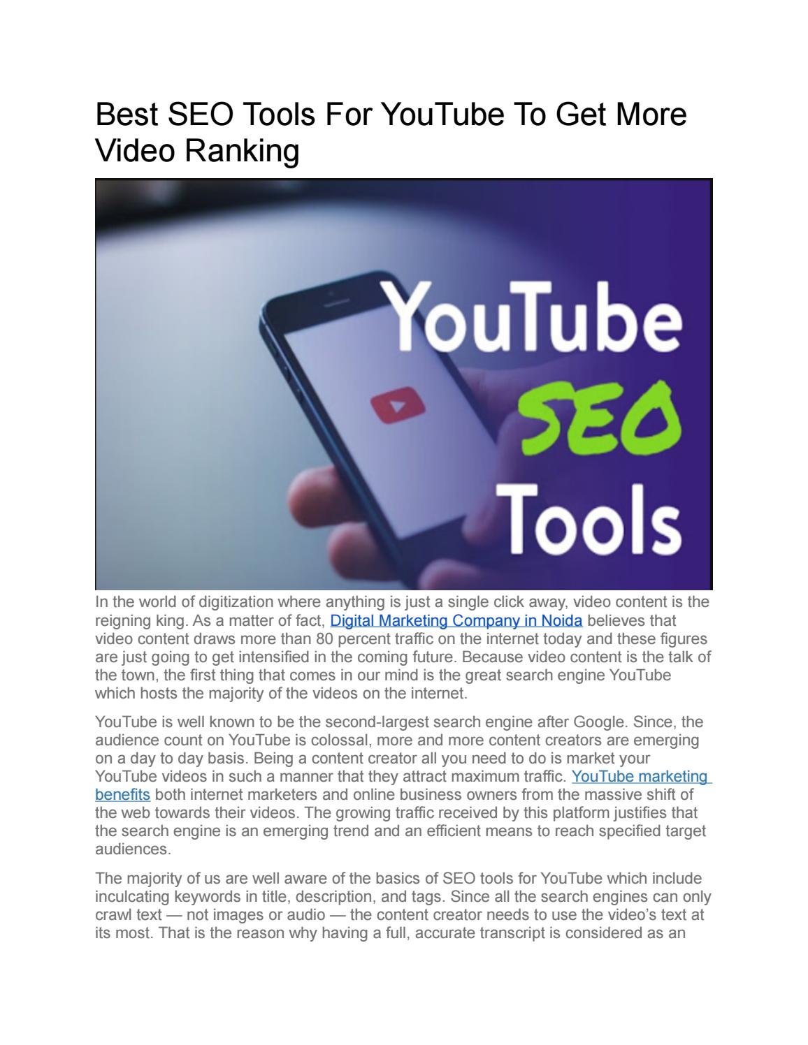 Best Seo Tools For Youtube To Get More Video Ranking By Sahil Technians Issuu