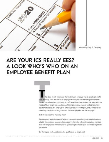 Page 31 of ARE YOUR ICS REALLY EES? A LOOK WHO'S WHO ON AN EMPLOYEE BENEFIT PLAN