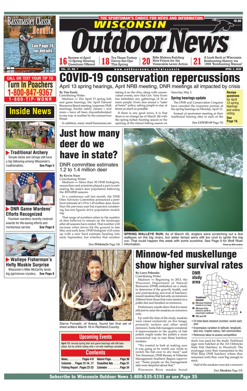 Wisconsin Outdoor News Issue 7 2020 By Outdoor News Issuu